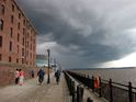 The gathering storm: Mersey waterfront today