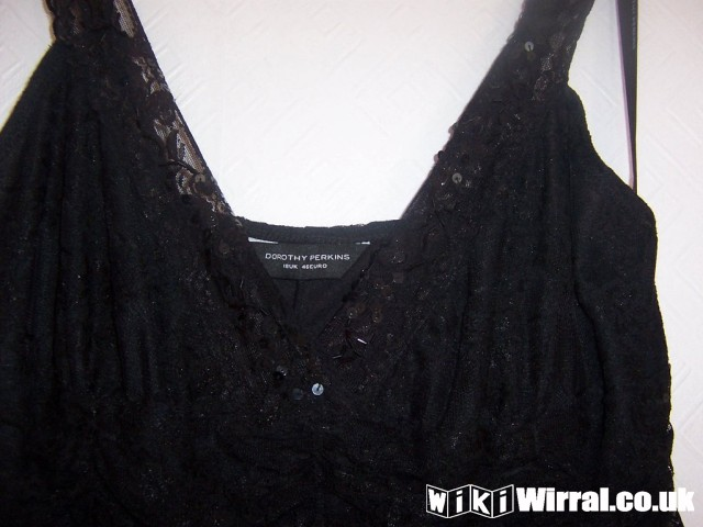 dorothy perkins black lace dress size 18.jpg
