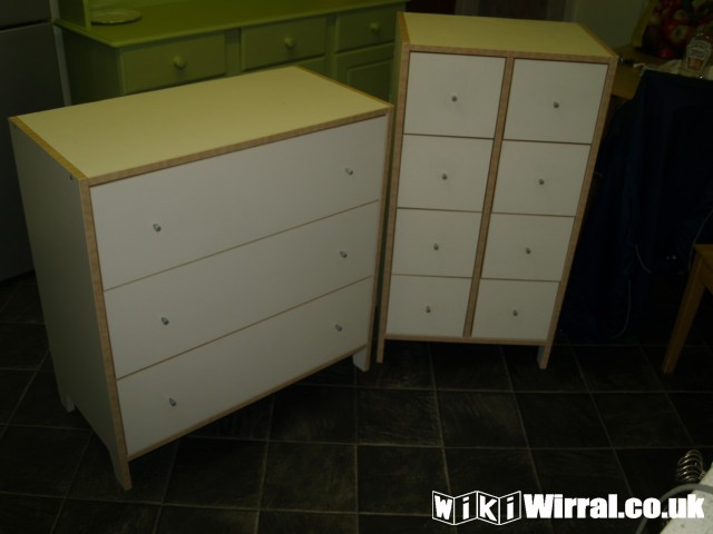 Ikea Robin 3 Drawer Chest Matching 8 Drawer For Sale