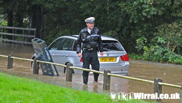 coppers car stranded in Brimstage.jpg
