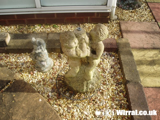 Cherub pond water feature for sale items wirral for Pond stuff for sale
